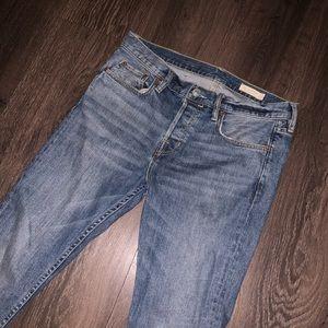 ALL SAINTS cigarette jeans men waist 30 dark blue